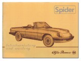 Bedienungsanleitung Spider    Bj.1983-85 (Nachdruck)