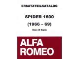 Ersatzteilkatalog Spider 1600 Bj.1966-68, 300 Seiten