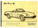 Bedienungsanleitung Spider Bj.1986-89 (Nachdruck)