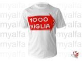 """T-Shirt """"1000 MIGLIA"""" weiß,   100% Baumwolle"""