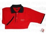 """Polohemd rot, schwarzer       Kragen """"Mille Miglia"""",        100% Baumwolle"""