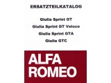 SPARE PARTS CATALOGUE GIULIA  SPRINT GT/GT VELOCE/GTA/GTC,  510 PAGES