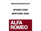 PARTS BOOK SPIDER 2000 / GT BERTONE 2000, 670 PAGES