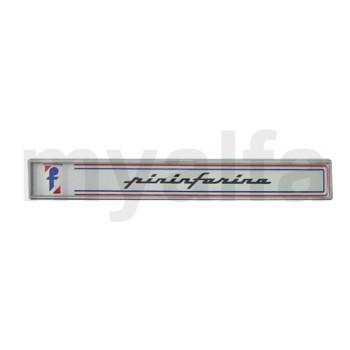 Emblem Pininfarina Spider Bj.1985-93 seitlich