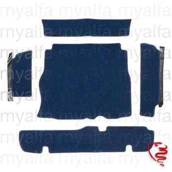 Kofferraumteppich Satz        Montreal Velours blau         129