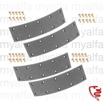 Bremsbeläge (4 STK.) zum Nieten - 750/101 - vorne 2-Backenbremse für  Backe 1365.53.043