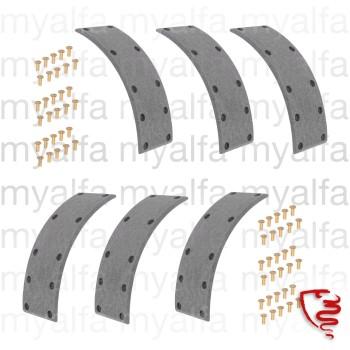 Satz Bremsbeläge (6 Stk.)  - 101 - vorne 3-Backenbremse mit Nieten