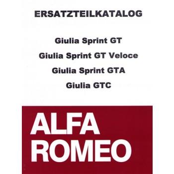 Ersatzteilkatalog Giulia      Sprint GT/GT Veloce/GTA/GTC,  510 Seiten