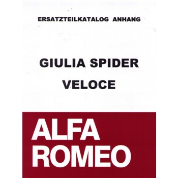 Ersatzteilkatalog - Anhang zu 952 101 0 Giulia Spider Veloce (ital.), 140 Seiten