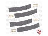 Satz Bremsbeläge (4 STK.) - 750/101 - hinten für schmale Trommel mit Nieten