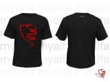 """T-Shirt schwarz, Logo """"myalfa"""", 100% Baumwolle"""